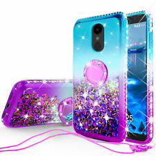 Alcatel 3 Case, T-Mobile Revvl 2 Case, REVVL 2 Glitter Ring Kickstand Cover