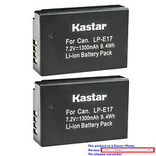 Kastar Replacement Battery Pack for Canon LP-E17 LC-E17 & Canon EOS M6 Mark II