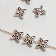 25pcs Antique Silver Flower Beads Metal Spacers Jewellery Supplies 8mm B00467