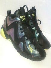 Reebok 5 Kamikaze II Mid Nocturnal Yellow Trainers Shoes Sneakers V61350 Shark