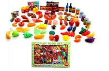 120pcs Kinder Set Küche Obst Gemüse Spielzeug-Lebensmittel mit Accessoires