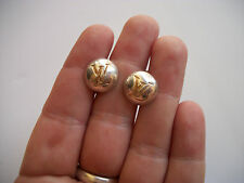 vintage Louis Vuitton iconic LV monogram sterling cufflinks EU made