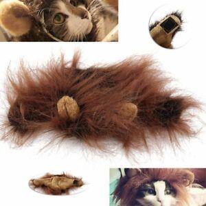 Pet Lion Mane Wig Dog Cat Halloween Party Cosplay  Dressing Hair Fun Prop W/ Ear