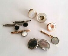 Lot of Vintage Antique Cuff Links Shirt Studs Krementz Mother of Pearl