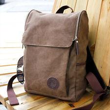 Men's Vintage Canvas backpack Rucksack Shoulder travel Camping Bag Satchel