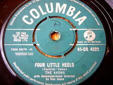 """THE AVONS - FOUR LITTLE HEELS   7"""" VINYL"""
