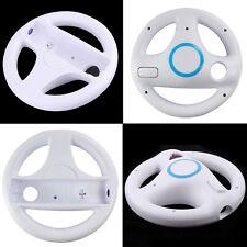2* White Mario Kart Racing Steering Wheel for Nintendo Wii Remote IN US