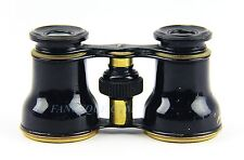 ANTIQUE FRENCH OPERA GLASSES WITH BLACK ENAMEL  # 70