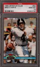 Brett Favre Farve Packers 1991 Stadium Club #94 Rookie Card rC PSA 10 Gem Mint