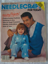 Needlecraft For Today Magazine Nov/Dec 1987 Sweaters Knit Crochet Holiday Decor