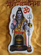 Aufkleber goa psy hippie sticker indien inde Buddha Shiva linga yoga om