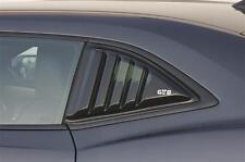 2010-2015 Camaro LS LT RS SS GTS Smoke Acrylic Quarter 1/4 Window Louvers Covers