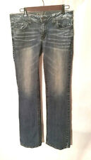 Refuge Runway Women's Everyday Boot Jeans Medium Fade Distressed Wash Size 10L
