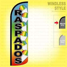 Raspados Windless Swooper Flag 3x11.5 ft Feather Banner Sign Rainbow q78