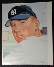"MICKEY MANTLE Gerry Dvorak 14x19"" Print FN+ 6.5 1953 Topps Card Pose"