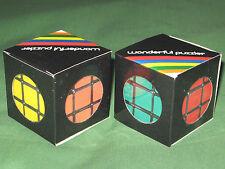 """2 TWIST CUBE 3x3 LOT Vintage 1980s WONDERFUL PUZZLER 2.25"""" NEW Rubix NEW Rubiks"""