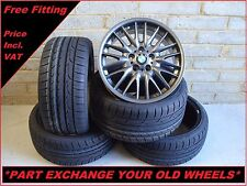 "2033 Genuine 18"" BMW MV1 72M 3 Series E46 Grey Alloy Wheels And New Tyres"