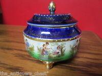 Royal Vienna Beehive marktrinket box/vanity dresser, blue and portrait decor[#59