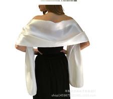 Satinschal Stola Schal Hochzeit Braut Abendkleid Überwurf glanz Satin Creme