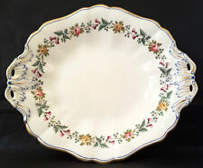 Spode?~Victorian~Antique~Hand-Painted~Floral~Gold~Cake~Tea~Plate~C.1850+~Xmas!