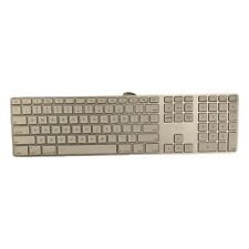 Apple A1243 USB Wired Keyboard with Numeric Keypad (White) And Two USB - Tested