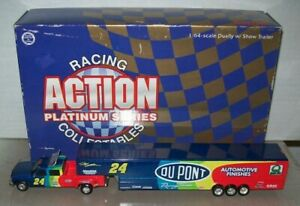 JEFF GORDON #24 DUPONT 1998 1/64 ACTION DIECAST DUALLY & TRAILER 3500 MADE