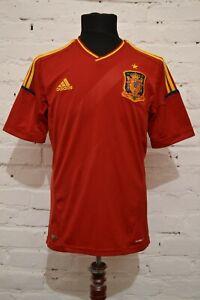 SPAIN TEAM HOME FOOTBALL SHIRT 2012/2013 SOCCER JERSEY CAMISETA ADIDAS MENS M