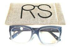 Rickey Smiley RS1144-C2 Blue/White Full Rim Reading Glasses Frames +2.50 Large
