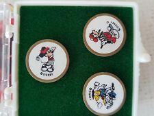 Disney World Golf Ball Markers Brass and Enameled Disney Character. X3  ...