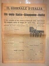 VOLO ITALIA GIAPPONE AVIAZIONE TRANSVOLATA AERONAUTICA IL GIORNALE D'ITALIA 1942