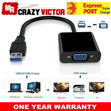 USB 3.0 to VGA Cable Video Display Card Graphic External Adapter for Win 7 8
