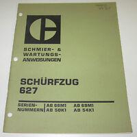 Betriebsanleitung und Wartungsanleitung Caterpillar Schürfzug 627