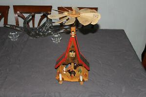 Weihnachtspyramide, Adventshaus, Glässer ?, Christi Geburt Erzgebirge