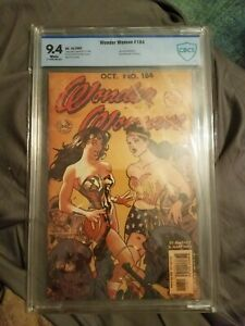 WONDER WOMAN #184 (Adam Hughes Cover) CBCS 9.4 (not CGC) DC Comics 2002