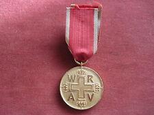 Original WRAV Medaille Für Verdienste um das Rote Kreuz in gold am Band