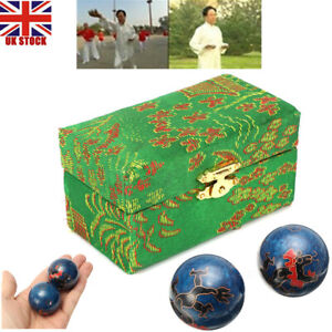Baoding Meditation Balls Chinese Health Exercise Stress Relief Therapy Balls UK