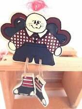 Boy Angel Shelf Sitter Red White and Blue Americana Raggedy Andy Style Decor