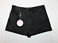 SUPRE Brand Black Backstage Cut Offs Shorts Size 16 BNWT #TK116