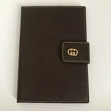 Gucci Passport Holder Brown Leather Signature