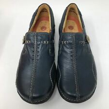 Clarks Unstructured Women's Un.Loop Slip-On Navy Casual Leather Shoe Size: 5.5