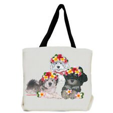 Havanese Dog with Flowers Tote Bag