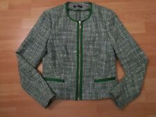 ESPRIT Blazer w.NEU!79€ 38/M grün Jacke Tweed tailliert Tweedblazer