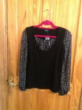 BNWT LOVELY LADIES BLACK BUSINESS/ WORK JUMPER WITH DETAIL F & F SIZE UK 14