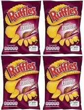4 x 170g-Increspature Big Bag di patate patatine-SPAGNOLO/Prosciutto Serrano Gusto UK Venditore