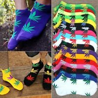 UKY Men Women Unisex Maple Leaf Cotton Marijuana Weed Low Ankles Socks 14 Colors