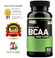 OPTIMUM NUTRITION BCAA 1000MG 60C - HIGH STRENGTH & QUALITY + FREE SHIPPING