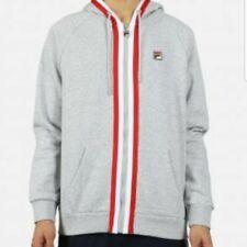 FILA Men's Full Zip Jonas Fleece Hoodie Jacket Large New Gray $68