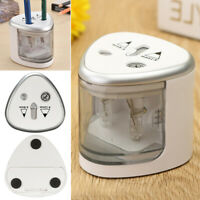 Automatic Electric Pencil Sharpener Dual Hole Battery Operated School Stationery