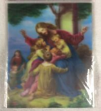 "3D 8"" x 10"" PICTURE HOLOGRAMS ""JESUS WITH THE LITTLE CHILDREN.""  HOLOGRAPHIC 3-D"
