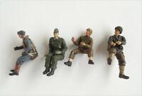 LOT of 4 21st Century Toys WWII Soldier MINI Figure 3CM-5CM high #d3